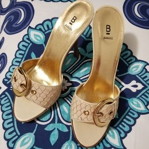 Baker Leather Mules Size 8.5